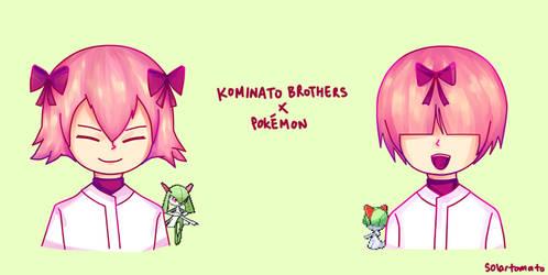 Kominato Brothers x Pokemon by thecym