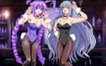 Bunny Girls Purple Heart x Black Heart