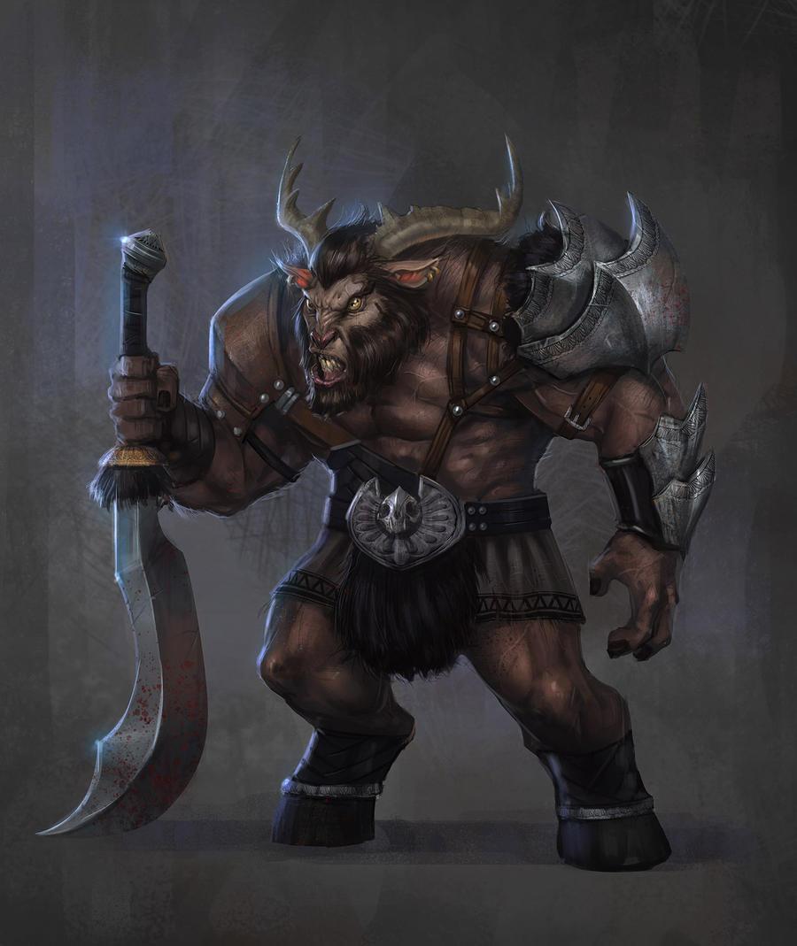 Goat-Horned Trolloc by t-biddy