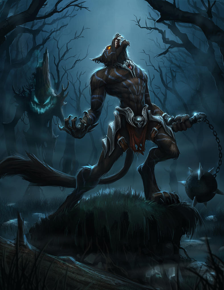 Wolfman defiler by t biddy on deviantart for Cool fantasy drawings