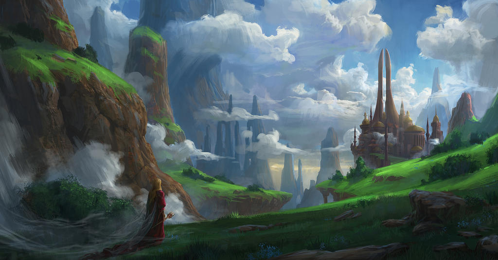 Cloudy castle by t-biddy