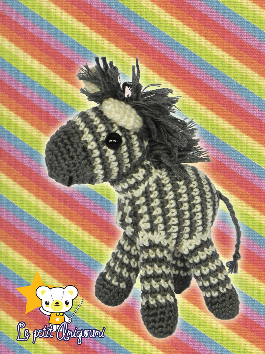 Zebra Juventus Amigurumi : Amigurumi - Zebra by Marlou-Chan on deviantART