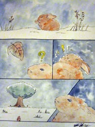 The Harsh Life of a Bunny. Pg 1 by Squall1015