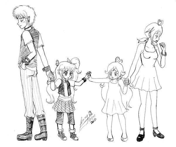 how to draw anime family