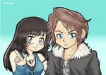 Leo y Rinoa by jenncath