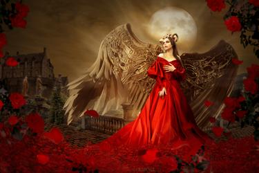 Night rose by Fiendcute