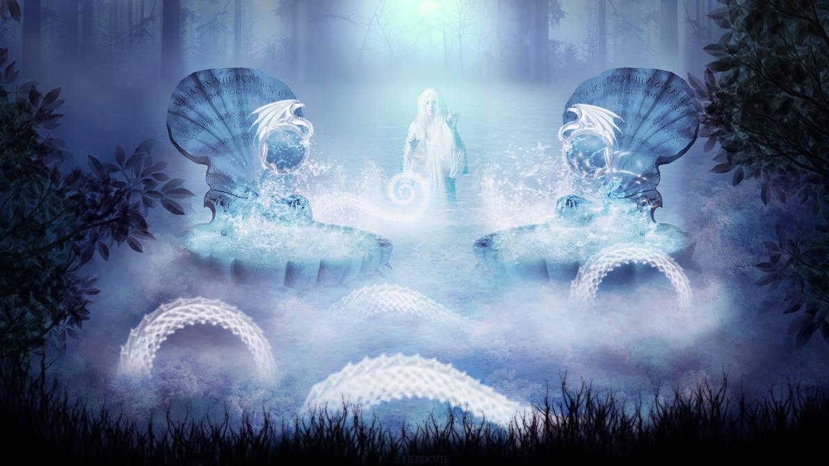 Dragon lake by Fiendcute