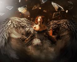 Fallen Angel by Fiendcute