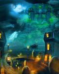 Ghost town by Fiendcute
