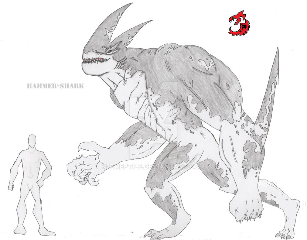 Hammer-Shark (The Ultimate Predator): Re-drawn by FiReptile on ...