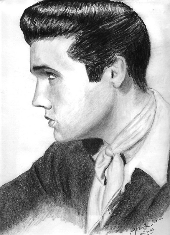 Final Elvis Drawing By Tattednspitefull