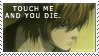 Tounch me and you die - Stamp by YouveBeenPunkd