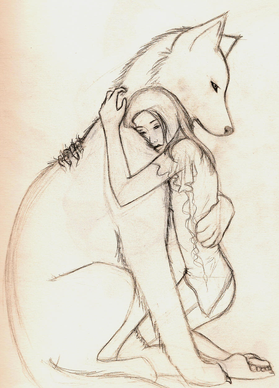 Wolf hug by kwonshucutie on DeviantArt