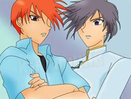Yuki and Kyo by katarinna