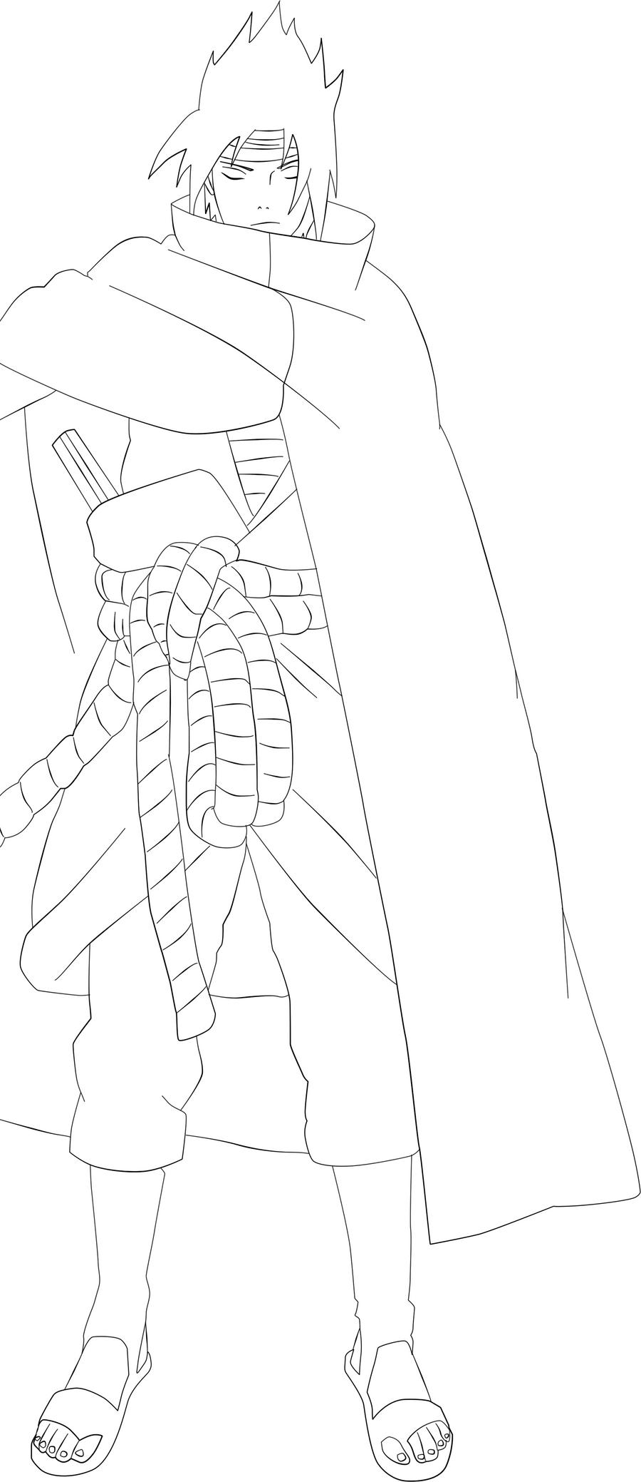 Sasuke Lineart : Sasuke lineart by areszxx on deviantart