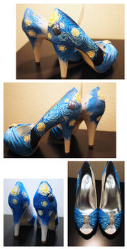 Shoes- Dr. Who/Starry Night