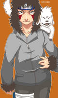 Kiba and Akamaru by setsuna22