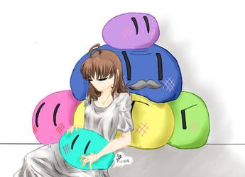 Nagisa and the Dango Family by MileenaSelemon