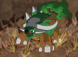 Favourite Grass-type Pokemon: Torterra by Kumata