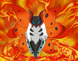 Favourite Fire-type Pokemon: Volcarona by Kumata