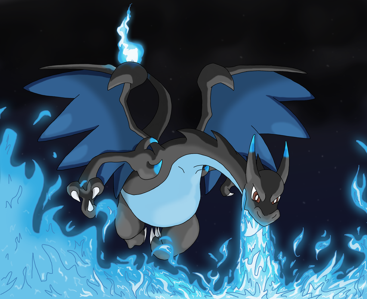 Mega Charizard X By Kumata On DeviantArt