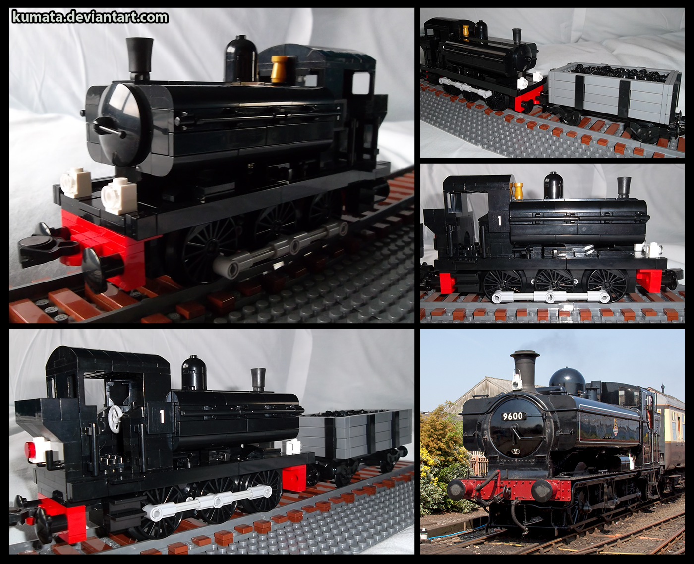Lego Pannier Tank Engine (and truck) by Kumata