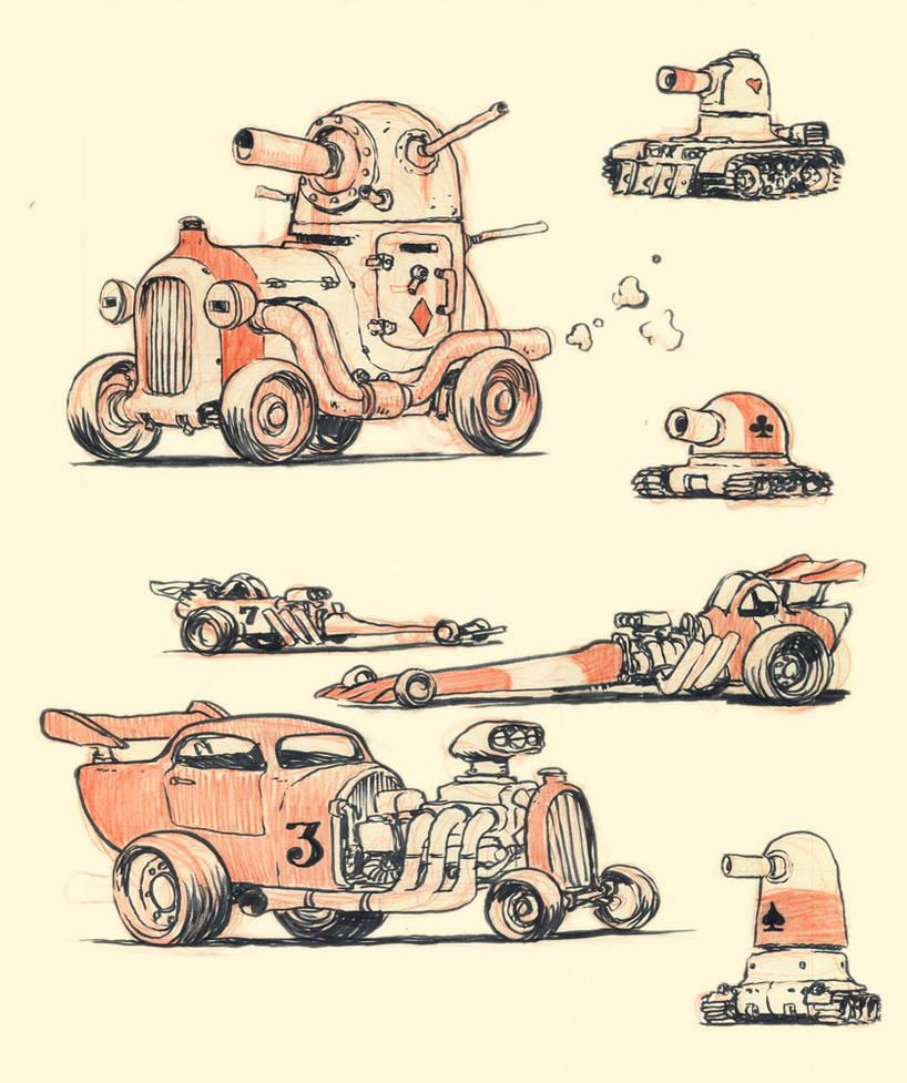 Hotrods and Tanks by JakeParker