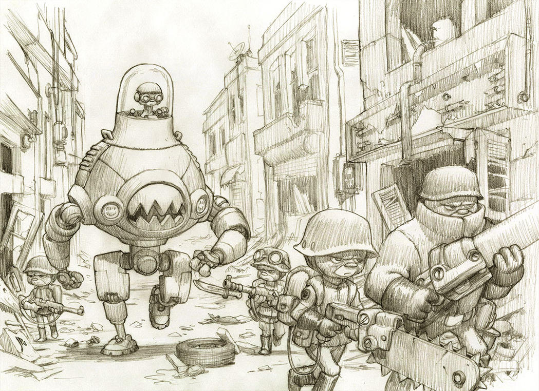Mech Unit 76c on Patrol Pencils by JakeParker