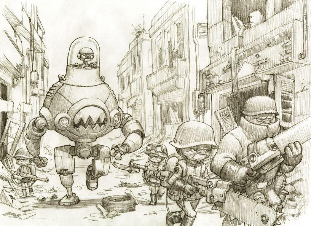 Mech Unit 76c on Patrol Pencils by JakeParker