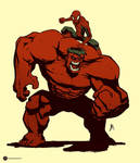 Spidey and red Hulk