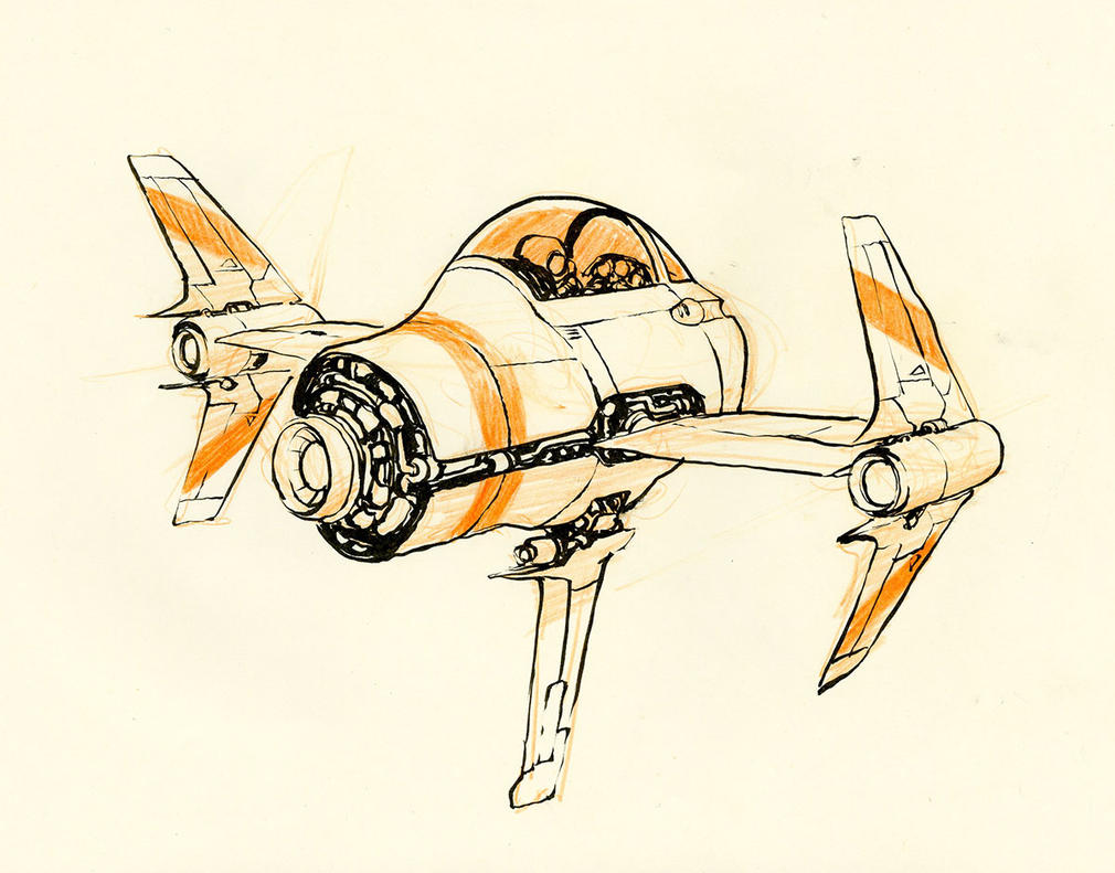 Little Spaceship by JakeParker