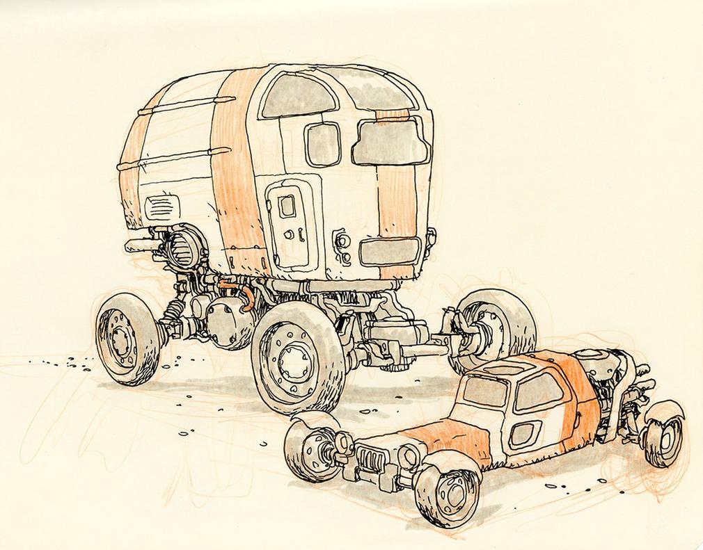 Desert Wheels by JakeParker