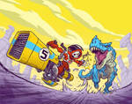 T-Rex Chasing Skull Chaser