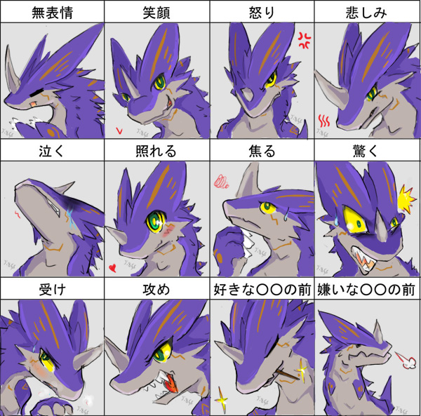 Aluka00 expression sheet by dragoon86
