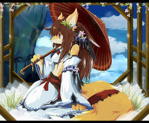 Kimono Fox lady by dragoon86