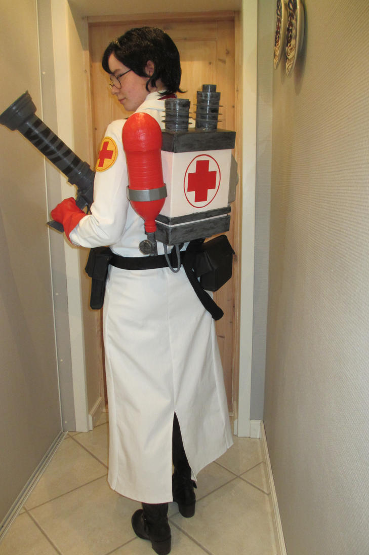 RED Medic cosplay 2 by GingerwithHat