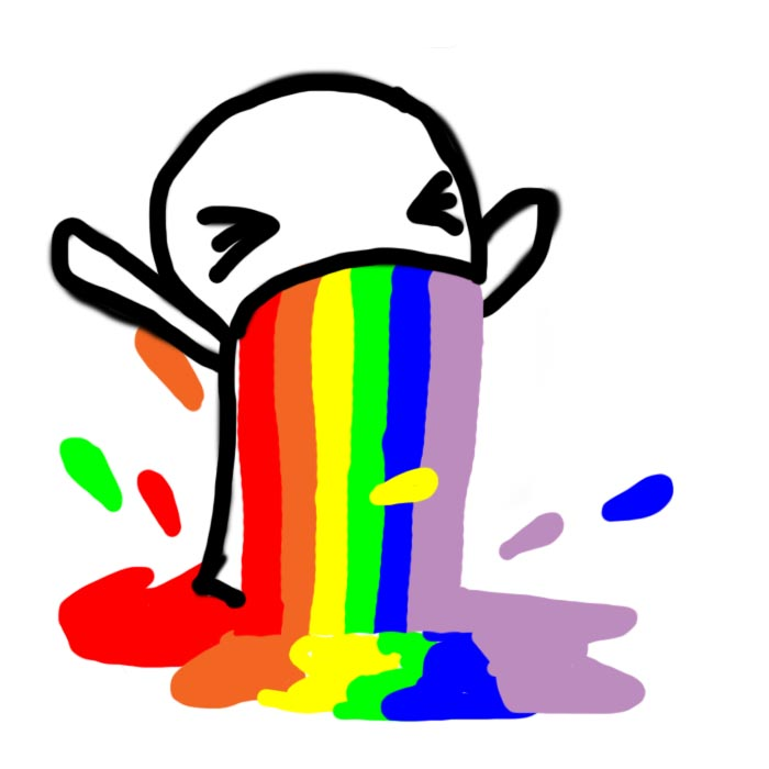 Rainbow Puke by hennes...