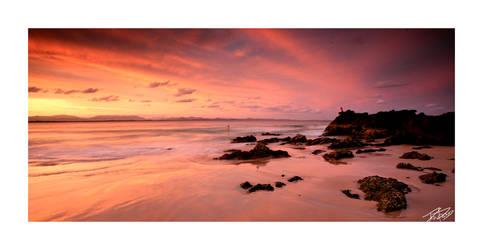 byron bay sunset by dannyp5000