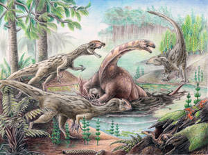 Triassic deadly swamps