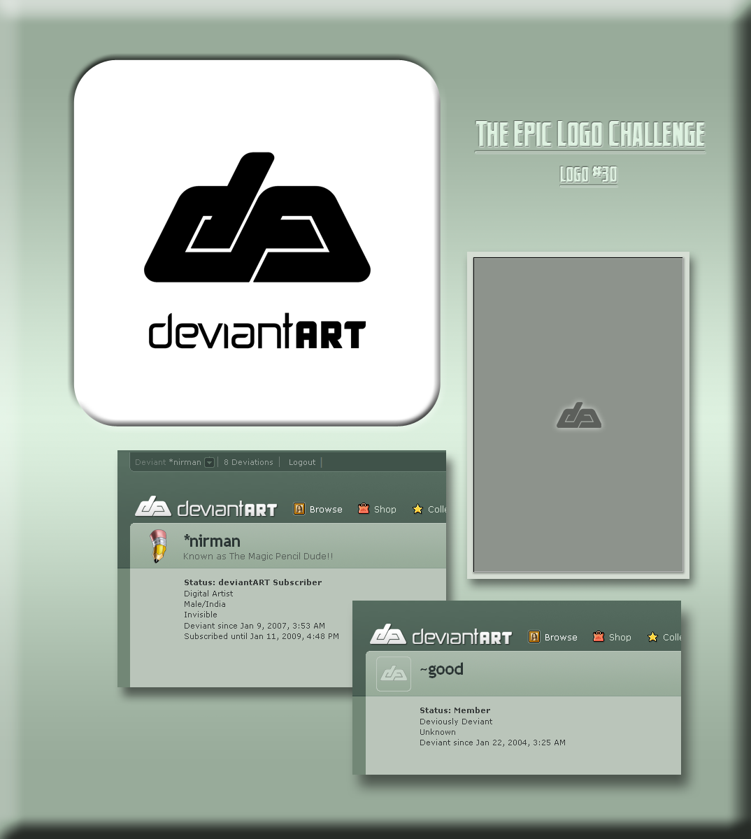 dA logo 3 0 by nirman