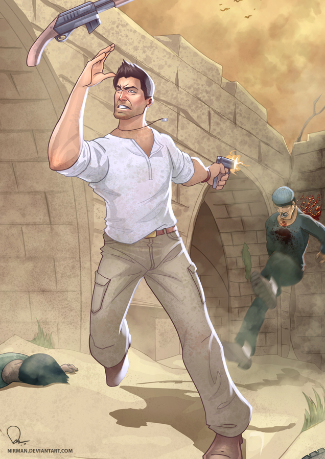 Uncharted 3 - Syrian brawl by nirman