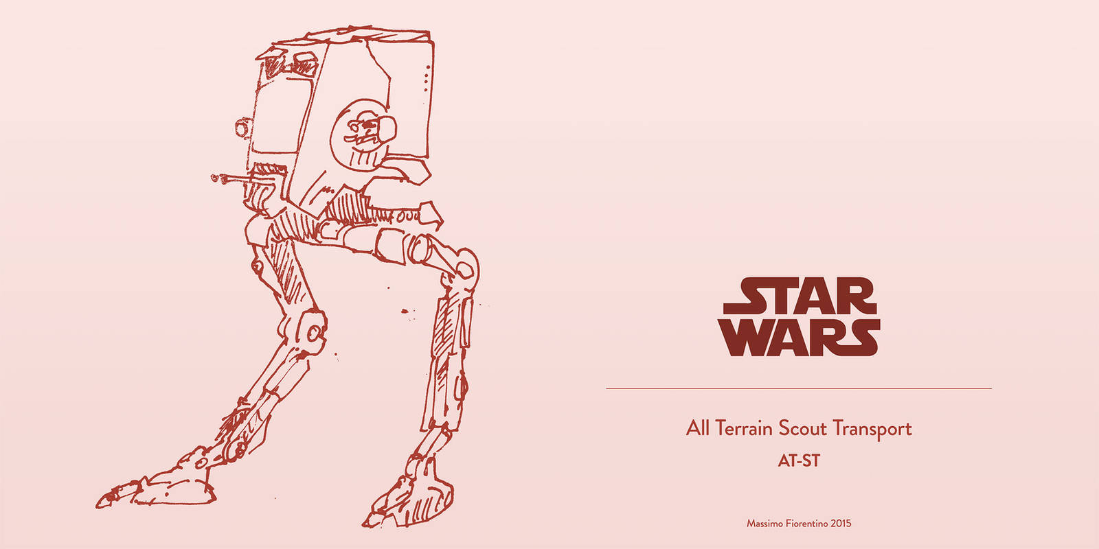Star Wars All Terrain Scout Transport AT-ST by mfiorentino