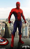 Civil War Spiderman suit concept by spidermonkey23