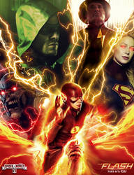The flash Season 3 poster.