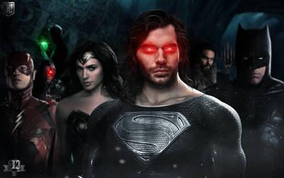 THE JUSTICE LEAGUE. (Superman regeneration suit.)