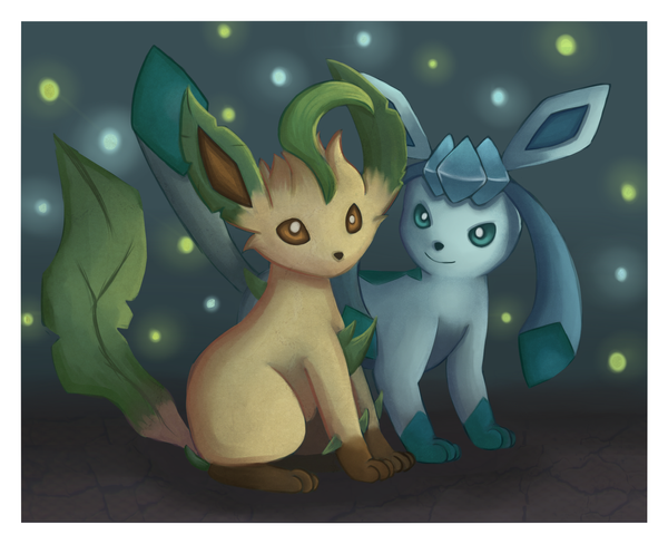 .:Glaceon and Leafeon:. by Mack-chan