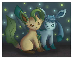 .:Glaceon and Leafeon:.