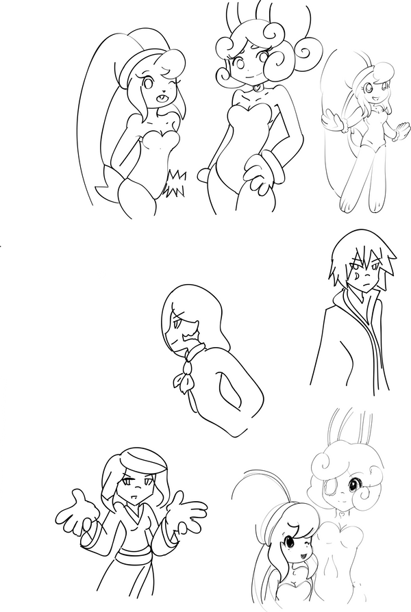 Sketch Dump 1-request- by Kell0x