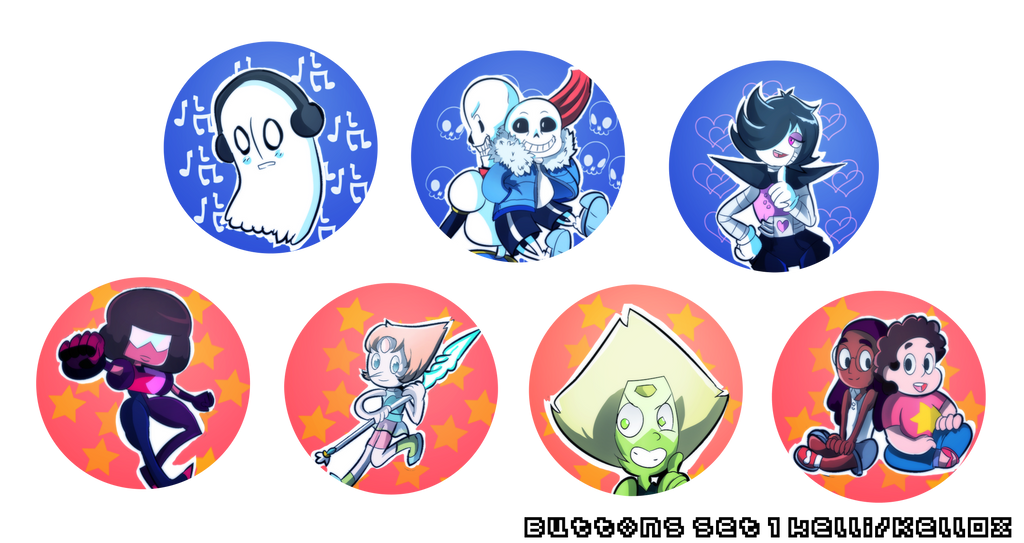 Button set 1 by Kell0x