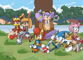 SONIC and The Freedom Fighters by Kell0x